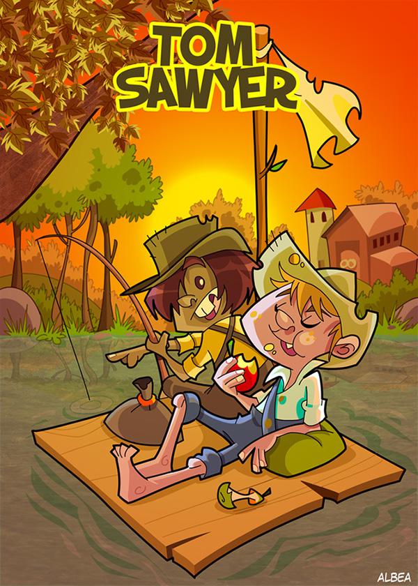 kid child sandokan Little red hood sleeping beauty cartoon cover Tom Sawyer alice in wonderland Blue Beard jungle book