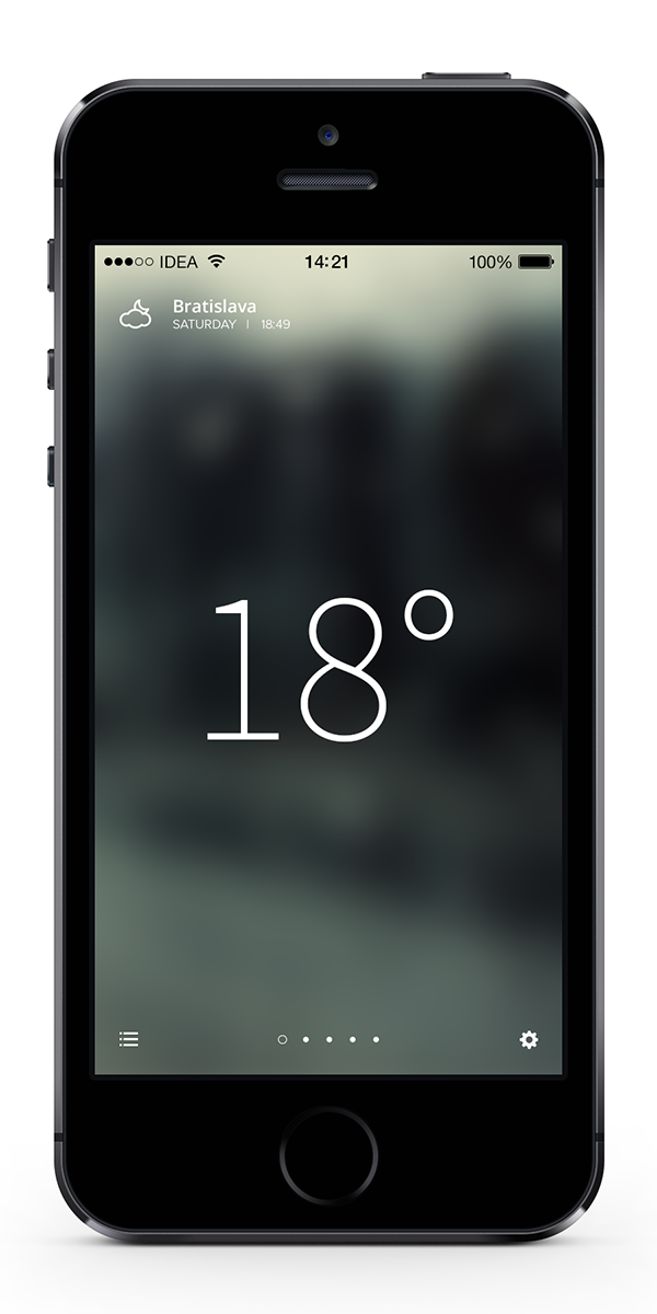 Weather iphone application concept on behance for Application iphone temperature interieur