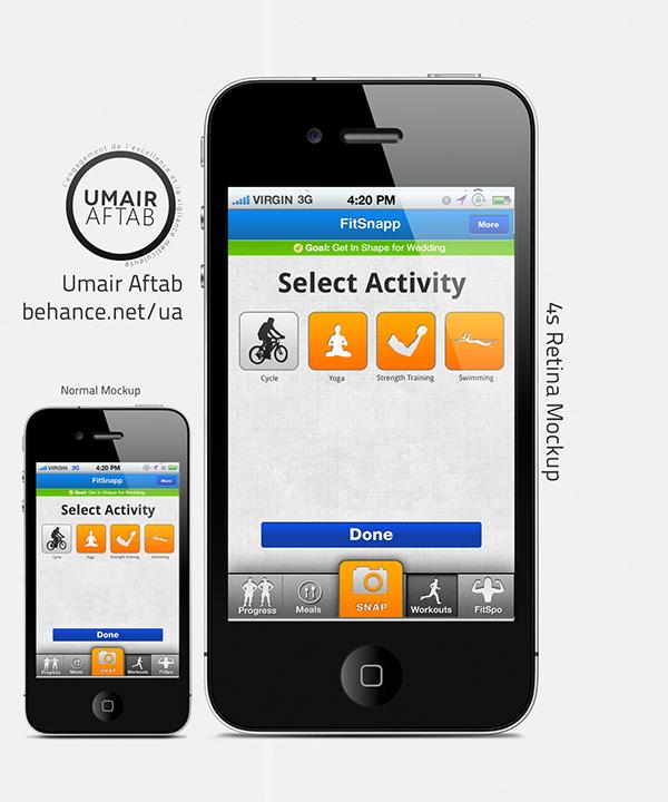 Umair  FITSNAPP   UI  iphone