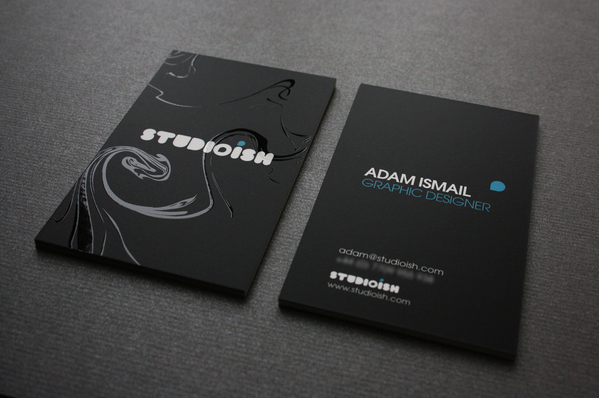 Studioish business cards on behance got my business card designs printed recently and thought id share them with you theyre printed full colour on 400gsm stock matt laminated with the reheart Images