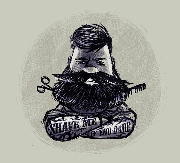 beard illustration on behance