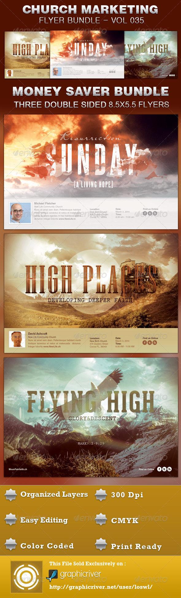 church marketing flyer bundle vol 035 on behance. Black Bedroom Furniture Sets. Home Design Ideas