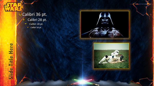 Star Wars PowerPoint Template on Behance