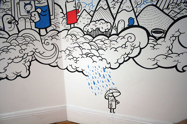Capsule crm mural on behance for Thank you mural