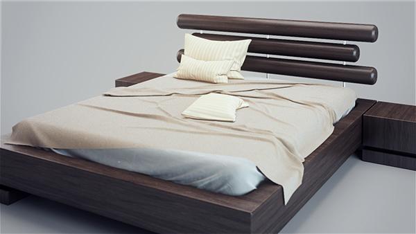 Modern bed v03 3d model on behance