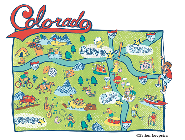 Colorado Map Series Published In Denver Post On Behance - Coloradomap
