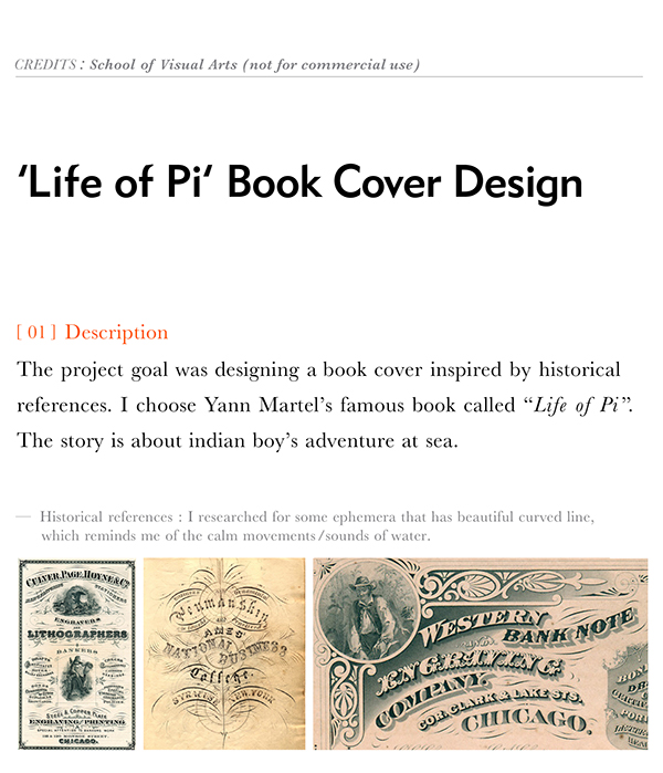 book cover  graphic design Calligraphy   typography   life of pi  cover type lettering