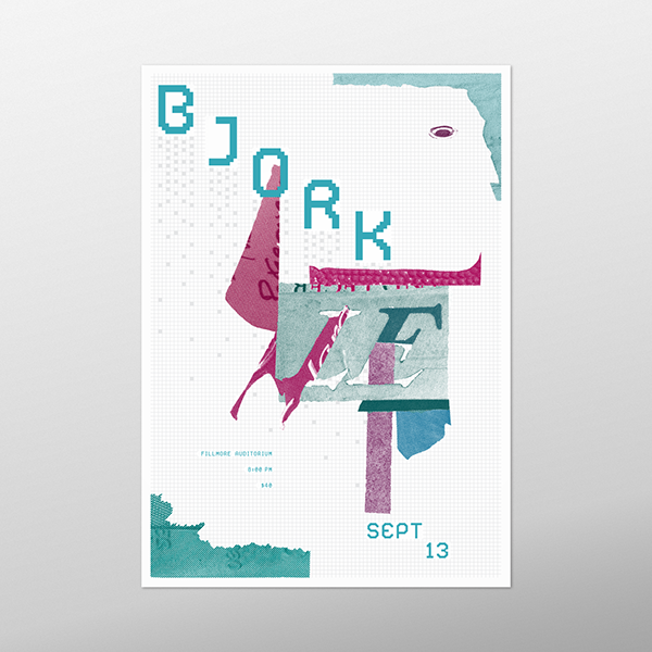 This Concert Poster Series Explores The Breadth Of Bjorks Music And Style Through 3 Distinct Approaches
