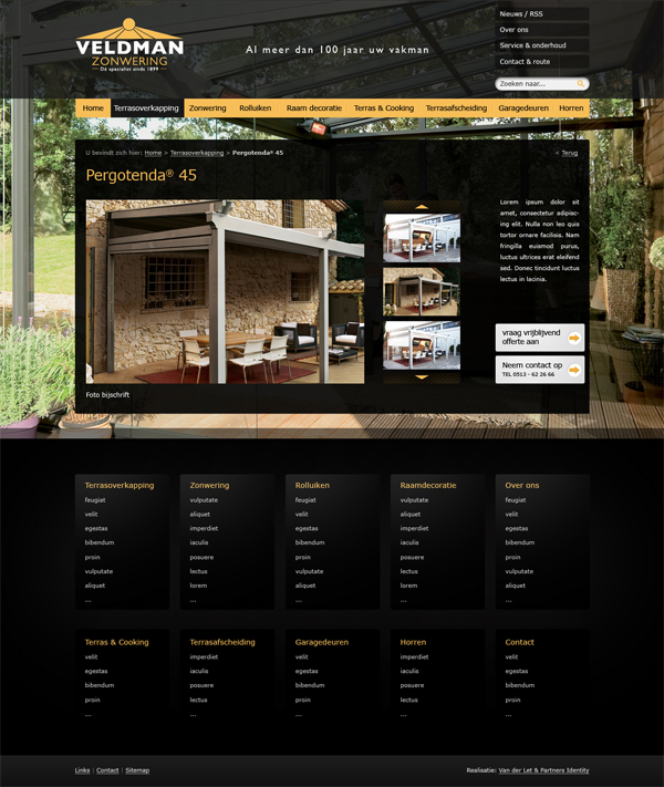 veldman zonwering jeroen rijpstra Van der Let & Partners Identity Webdesign