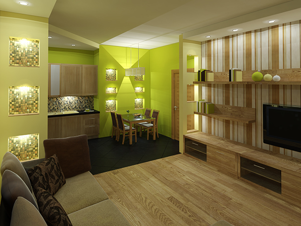Interior design in 2 bedroom countryside apartment on behance for Interior decoration 2 bedroom flat