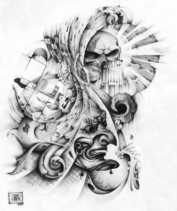 Asian Tattoos Illustrations: Tattoo Illustration On Behance