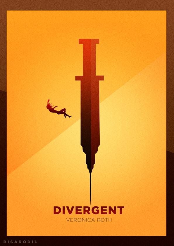 Minimalist Book Cover Prints ~ Divergent minimalist posters on behance