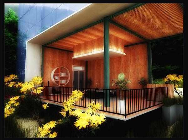 Modern bamboo house design on behance for Modern bamboo house plans