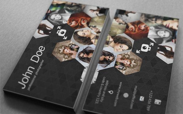 business card  photographer  image  design  graphic design