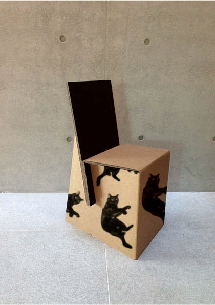 Chairs Made Of Recycled Cardboard On Behance