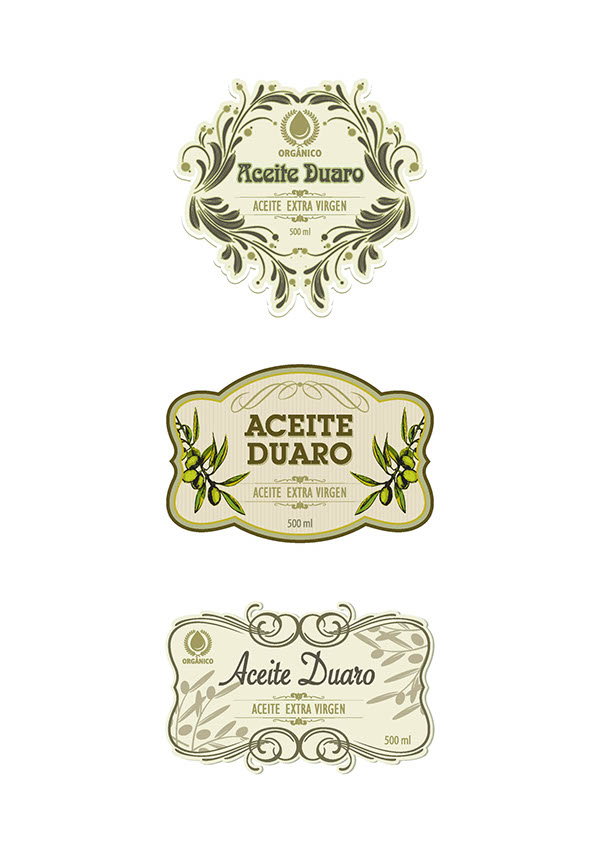Dise o etiquetas de aceite on behance for Diseno de etiquetas