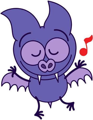 Cute bat dancing