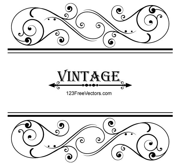 Vector File Here Vector Vintage Floral Ornamental Frame D