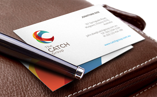 group logo colors colorful Business Cards cufflinks 3D abstract c initial orb Australia Melbourne romanian identity