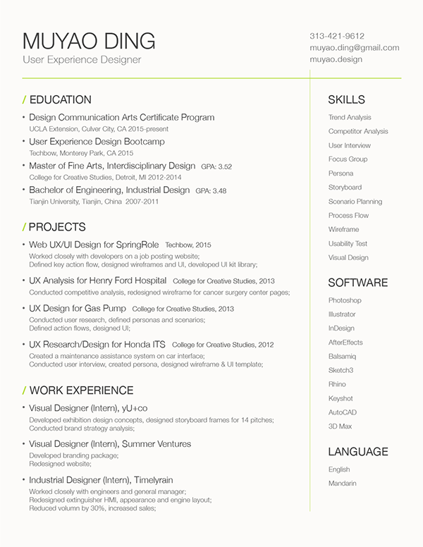 industrial design resume describes wealthier ml