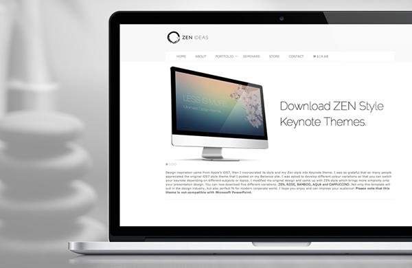 zen style keynote themes on behance