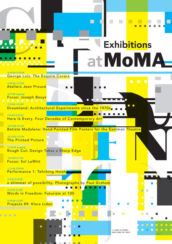 Contemporary Art Calendar Uk : Museum of modern art calendar poster on behance