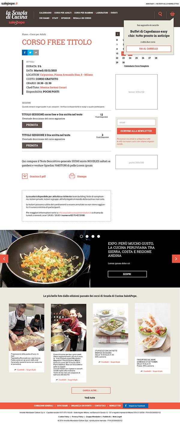 La scuola di cucina sale pepe e commerce on wacom gallery - Sale e pepe scuola di cucina ...