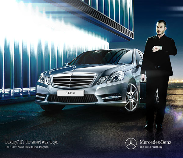 Cats motors print ads on behance for Mercedes benz print ads
