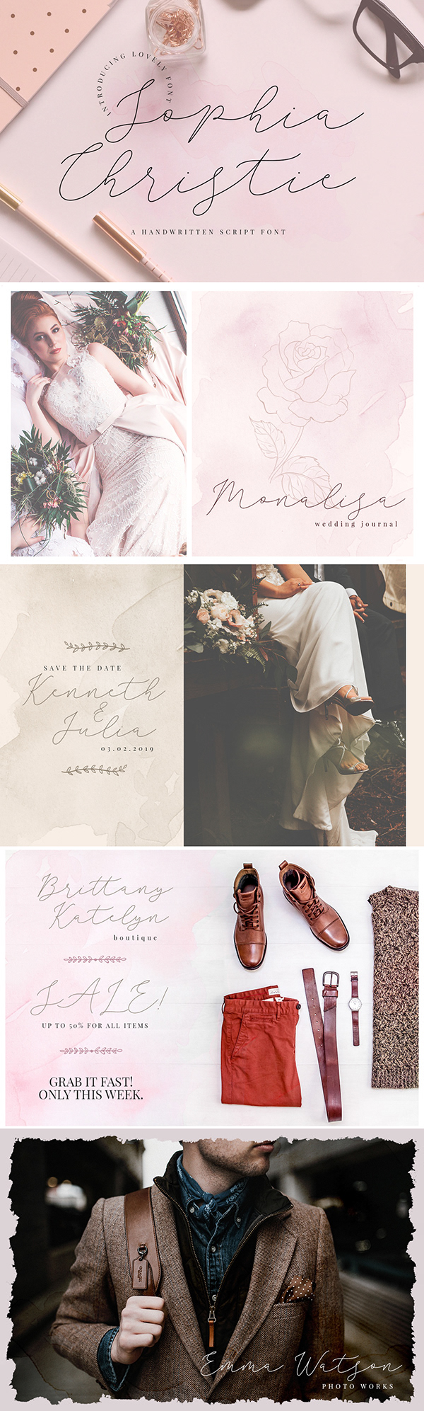 Free Sophia Christie Script Font on Wacom Gallery