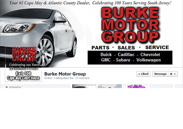 Cover Image Profile Picture For Burke Motor Group On Behance