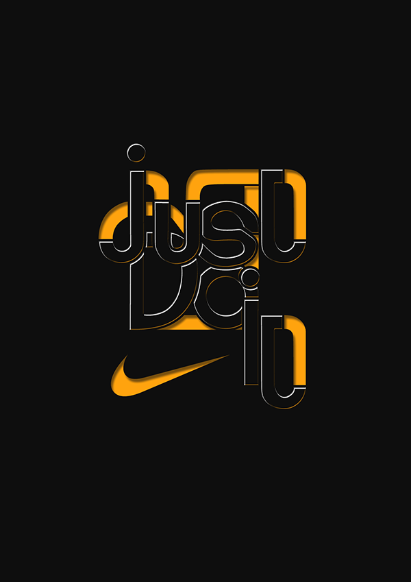 just do it nike typography on behance