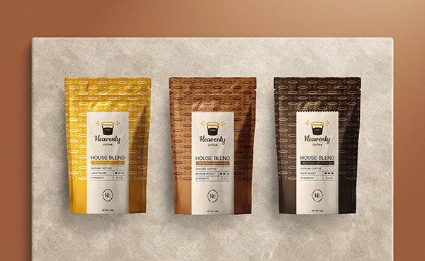 HEAVENLY COFFEE | Logo & Identity Design