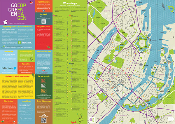 SUSTAINABLE CITY MAP GoGreen Copenhagen on Behance