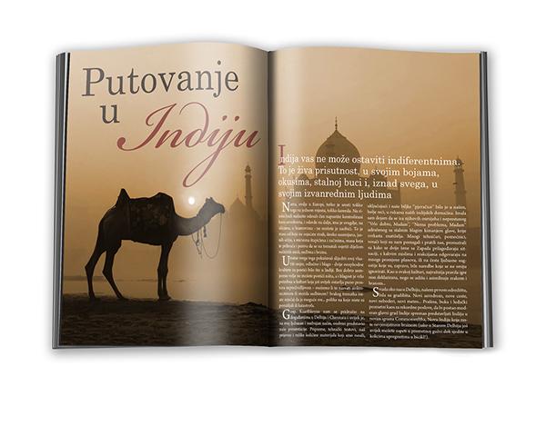 magazine Layout Travel