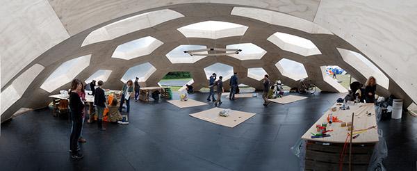 Geodesic dome roskilde festival plywood henrik almegaard kristoffer tejlgaard