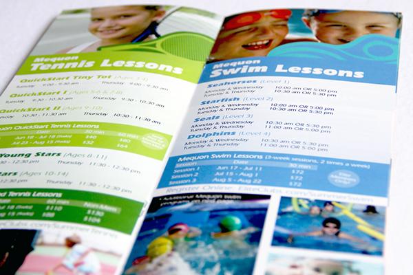summer brochure kids Program graphic design  mail