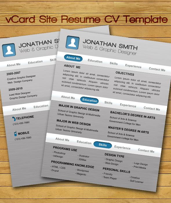 resume templates on behance