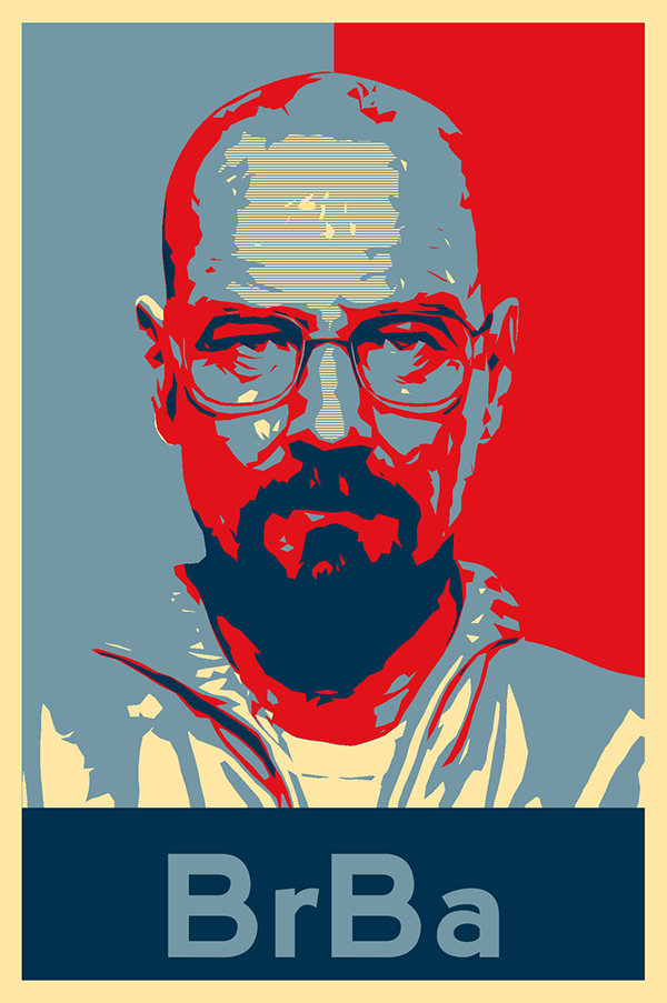 obama s hope poster breaking bad style on behance