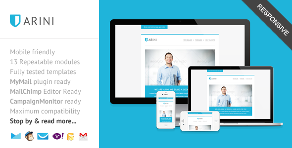 Arini Clean Business Newsletter Template On Behance