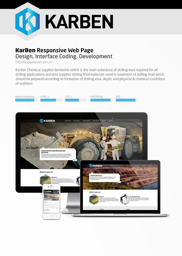 Web design Responsive creative html5 css3 php karben