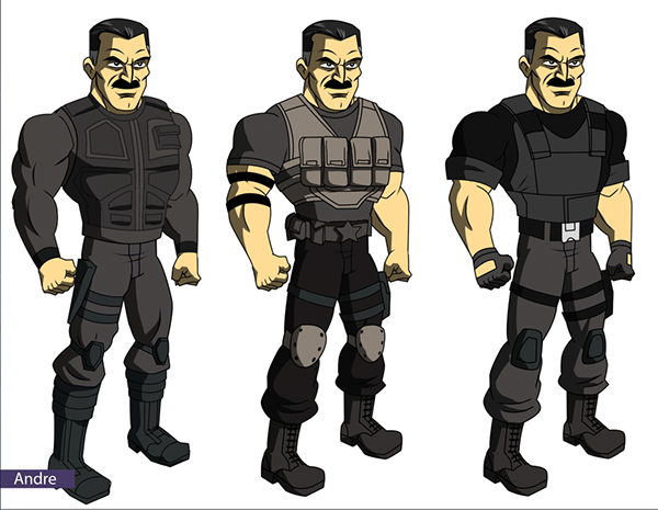 mobile game Game Art character designs superheroes turn arounds