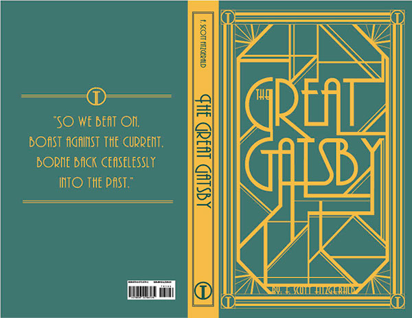 Book Covers Front And Back : Great gatsby book cover on behance