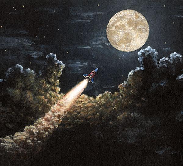 Rockets To The Moon: Moon Rocket On Behance