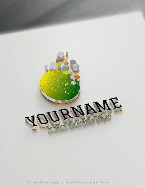 3d logos free logo maker on behance Online 3d design maker