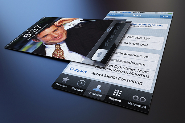 Iphone business card on behance click here to download the template friedricerecipe Gallery