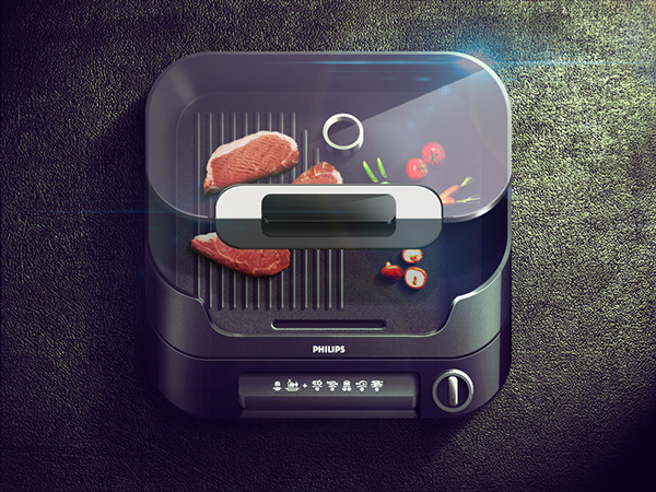 vegetables reflections Russia Moscow app Icon highlight gray dark black shadow light buttons meat