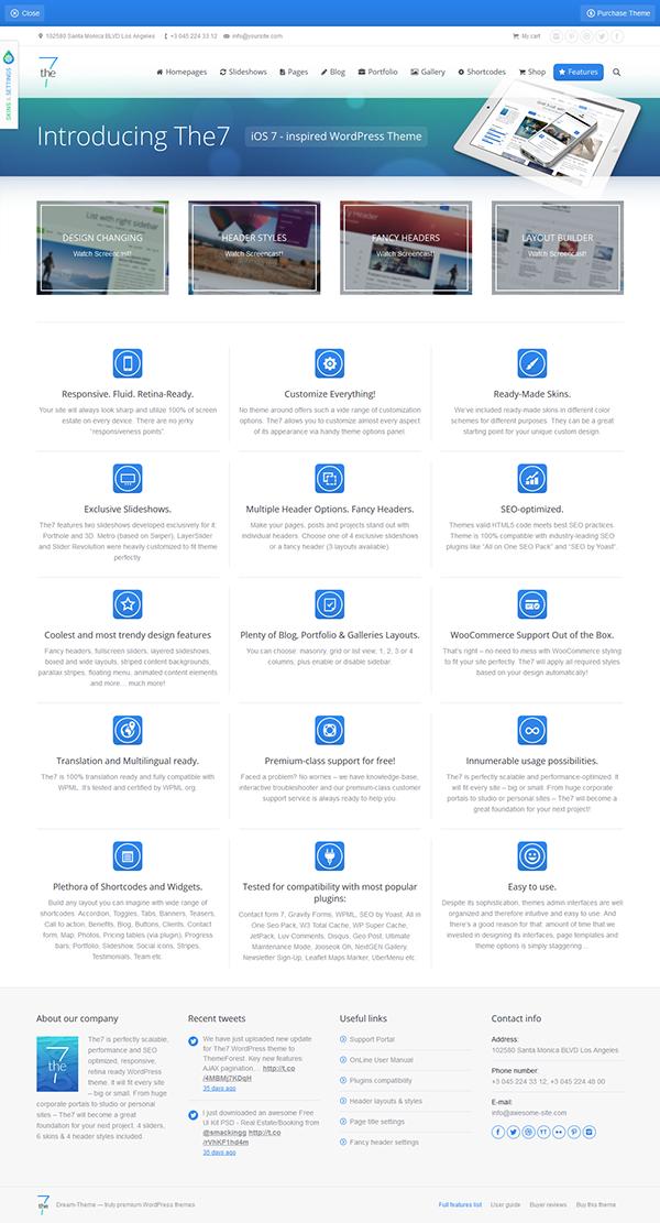 The7 — Responsive Multi-Purpose WordPress Theme on Behance