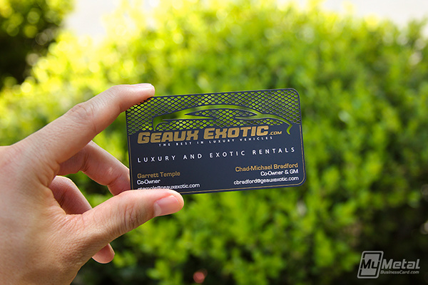 Exotic car black metal business card on behance black metal business cards have been the popular choice for many luxuryexotic car dealerships and rental services check out this slick anodized black card reheart Image collections