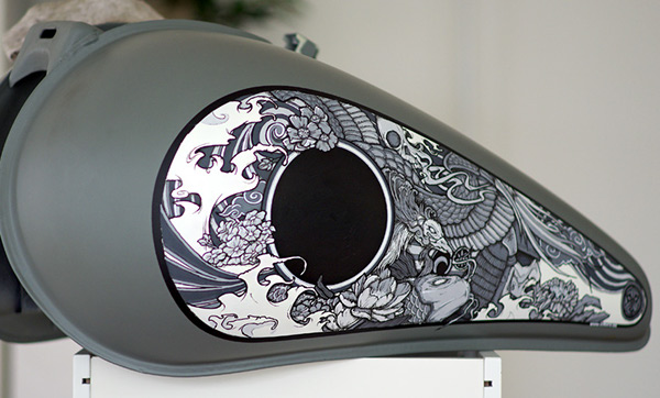 pimp my bike painting a motorcycle on behance. Black Bedroom Furniture Sets. Home Design Ideas