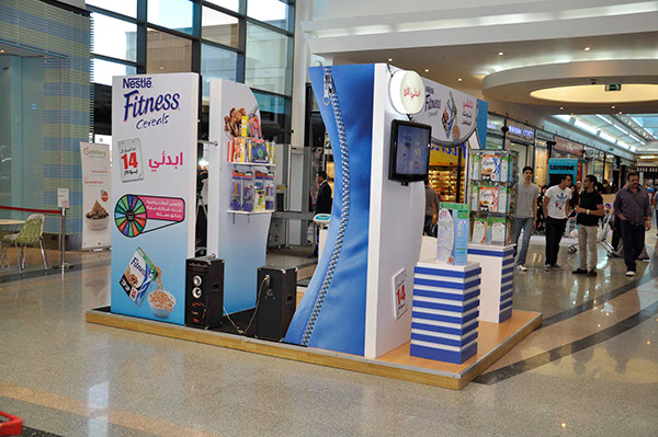 Nestle Exhibition Booth : Nestle fitness booth madi city center on behance